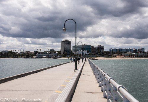 Looking back into St Kilda from St Kilda Pier