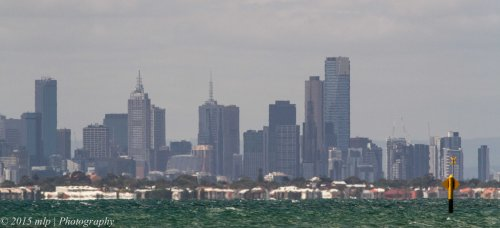 Melbourne CBD Skline from Pt Cook beach