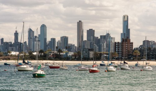 Melbourne City Skyline from St Kilda Pier