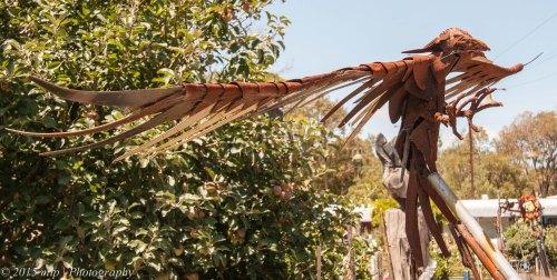 Rusty Eagle Sculpture