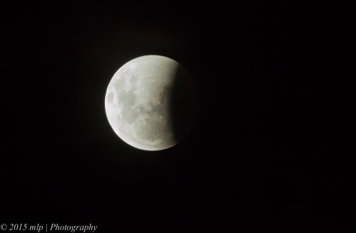 Lunar Eclipse, Queenscliff,  Victoria 4 April 2015