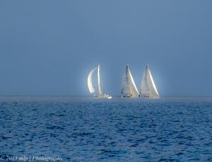 Yachts off Elwood Beach
