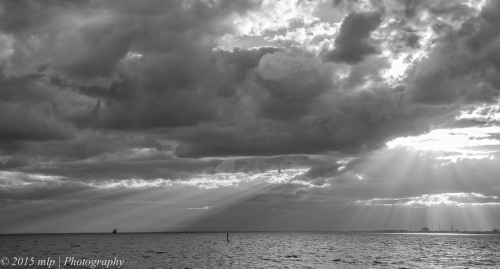Storm clouds over Port Phillip Bay, Victoria 18 April 2015