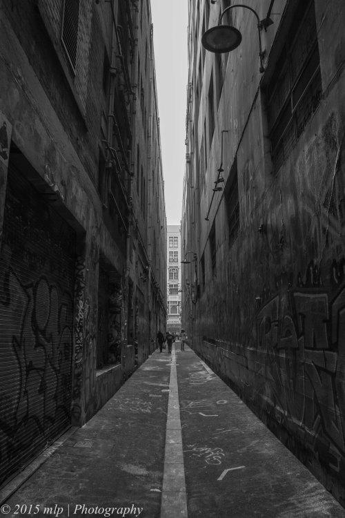 Narrow Laneway BW, Melbourne CBD, 11 May 2015
