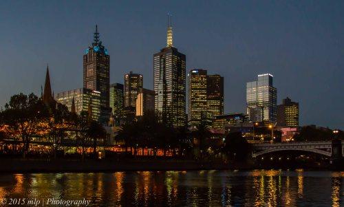 Yarra Dusk, Melbourne CBD, 4 May 2015