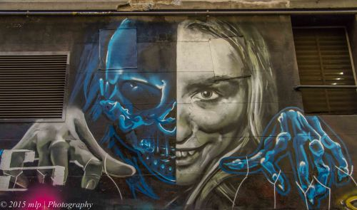 Hosier Lane Artwork,   Melbourne CBD, May 2015