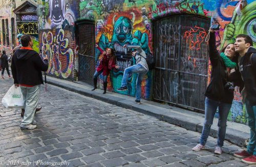 Hosier Lane Tourists, Melbourne CBD