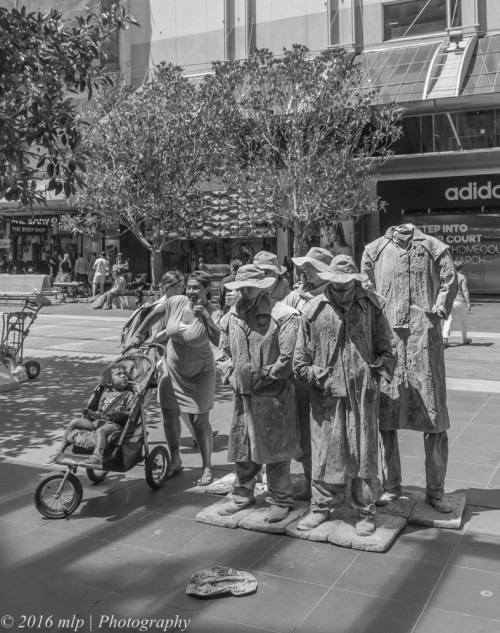 Buskers and tourists, Bourke St Mall, Melbourne CBD