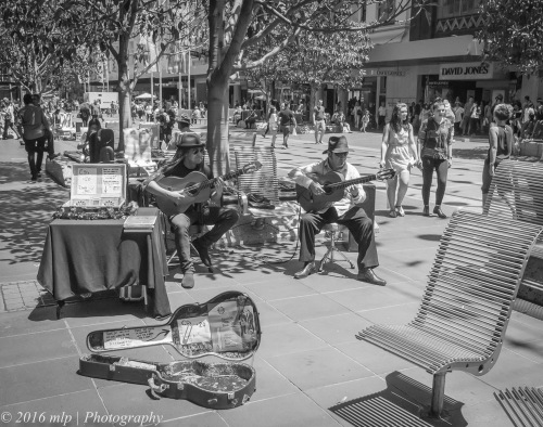 Buskers in Bourke St Mall, Melbourne CBD