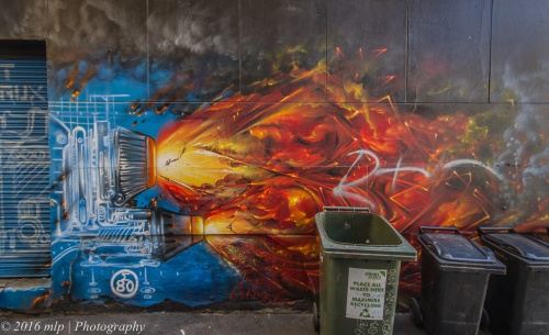 Flinders Ct artwork, Melbourne CBD