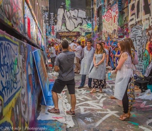 Hosier Lane art lessons, Hosier Lane, Melbourne CBD