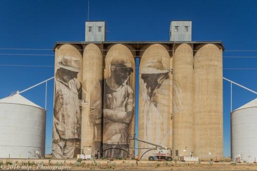 Wheat Silo Murals, Brim, Victoria