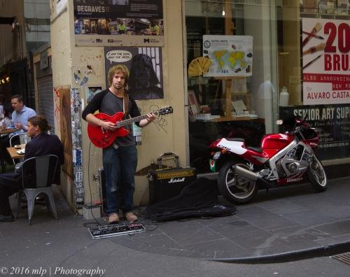 Degraves Street Busker, Melbourne CBD
