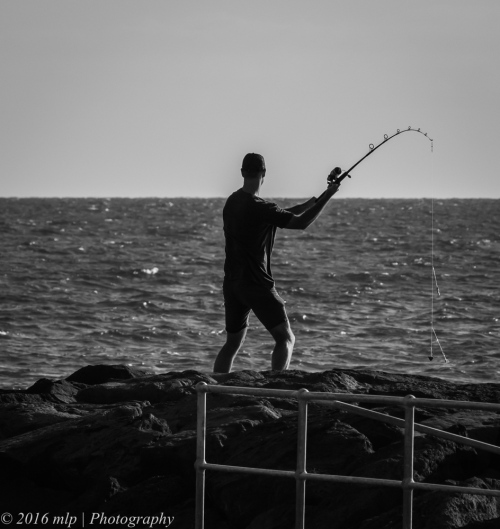Fisherman, Elwood Beach, Victoria,