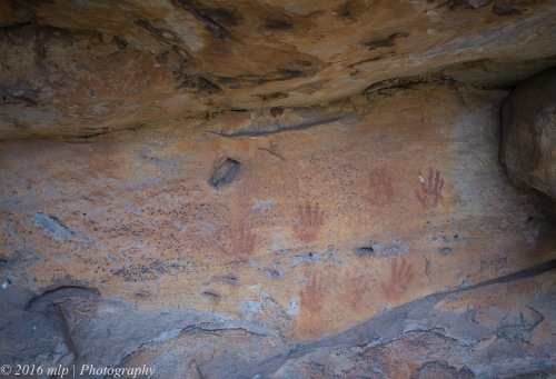 Gulgurn Manja Shelter (Hands of young people), Mt Zero, Northen Grampians