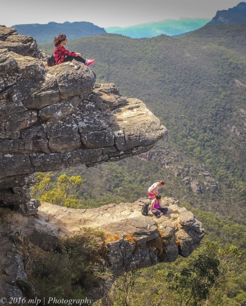 Tourists on the Balconies, Grampians National Park, Victoria