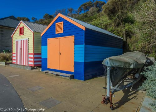 Cerberus Beach Boat Houses, Black Rock beach, Victoria
