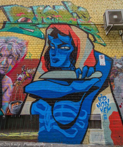 Street Art, P-Stain Alley, Melbourne CBD,