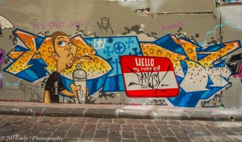 Street Art, Hosier Lane, Melbourne CBD, Victoria