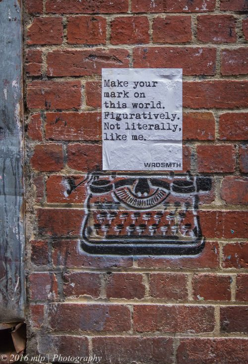 Literally, Wrdsmth, Melbourne CBD