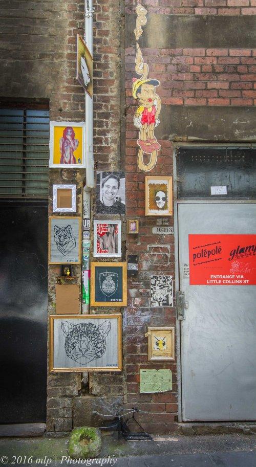 Street Art in Presgrave Place, Melbourne CBD, Victoria