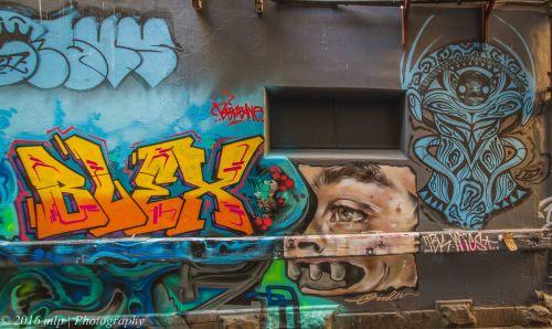 Street Art, Flinders Crt, Melbourne CBD, Victoria