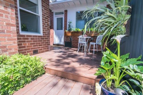 Rear garden decking